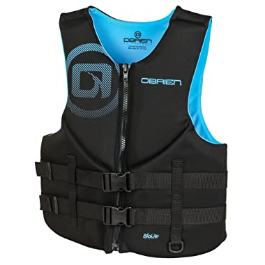 O'Brien Men's Traditional Neoprene Life Jacket, Cyan, Small