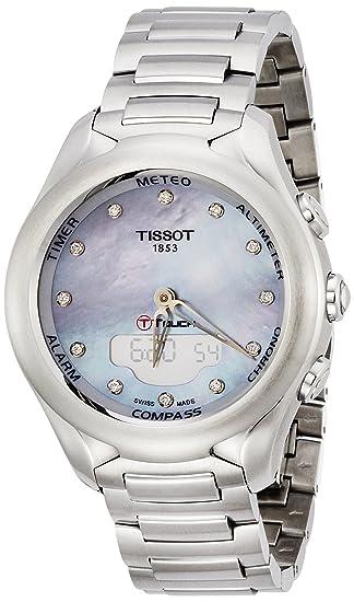 Tissot Reloj Analógico-Digital para Mujer de Automático con Correa en Acero Inoxidable T075.220.11.106.00: Amazon.es: Relojes