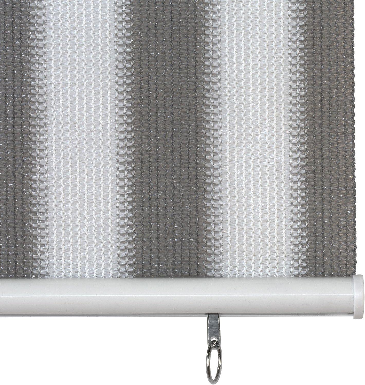 Jarolift Store Extérieur Vertical 120 X 240 Cm Largx Long Gris Blanc