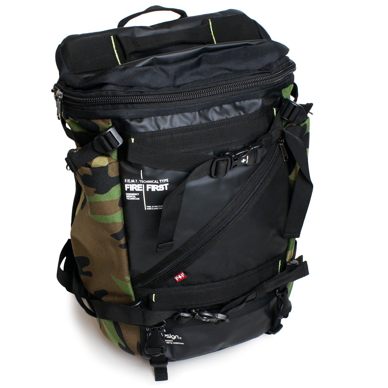 97e6544db94a Amazon   [ファイヤーファースト]FIREFIRST リュックサック ラウンドリュック メンズ 男性 25L 多機能 二層 大容量 撥水 防水  ベルト ファスナー ポケット トラベル ...