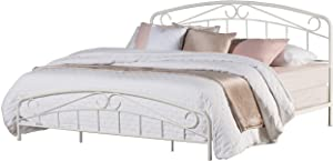 Hillsdale Furniture Jolie Complete Bed, King, Textured White