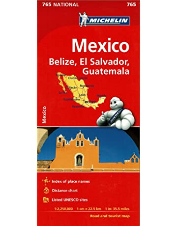 Mexico, Belize, El Salvador, & Guatemala Road and Tourist Map