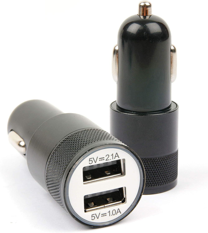 DURAGADGET Cargador De Coche para Reloj Polar RC3 GPS Bike - ¡con Dos Puertos USB!