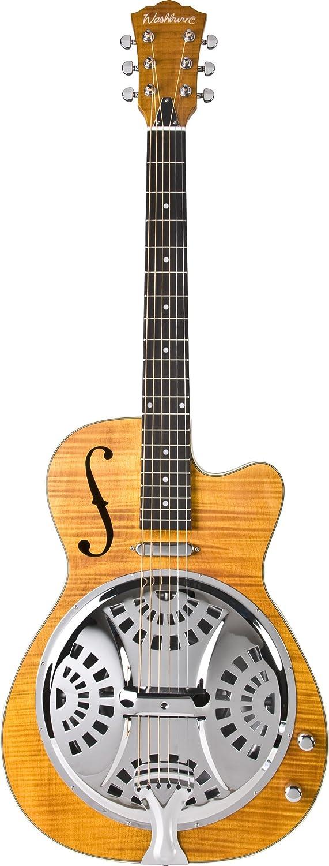 Washburn ワッシュバーン Resonators R45RCE Resonator エレキギター, Natural エレキギター エレクトリックギター (並行輸入) B0058GZS30
