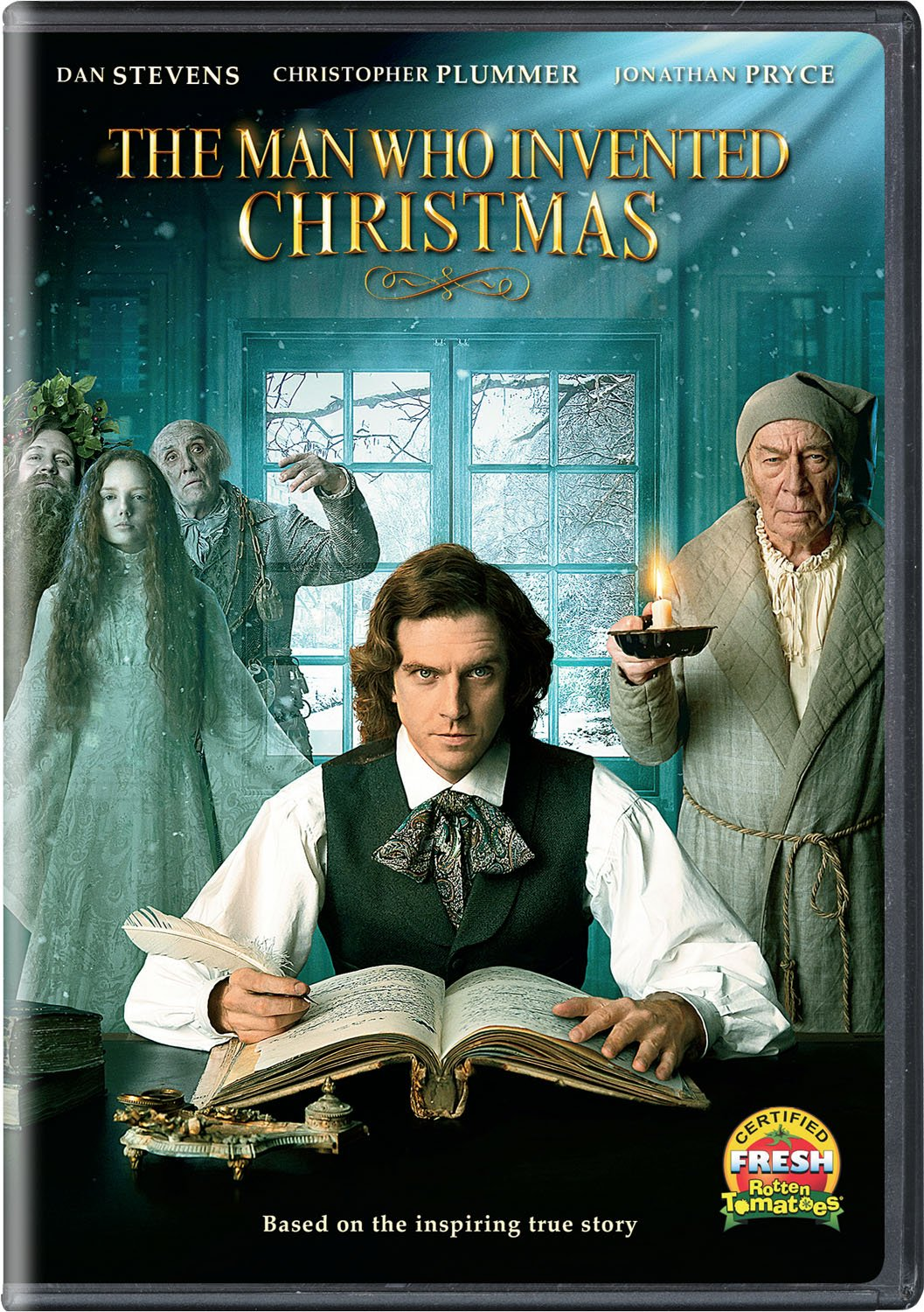 The Man Who Invented Christmas Poster.Amazon Com The Man Who Invented Christmas Dvd Dan Stevens