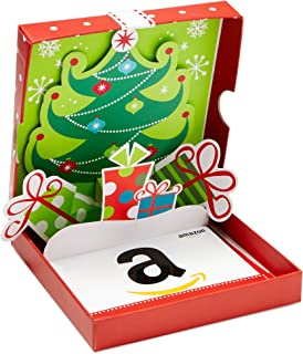 Amazon Gift Card In A Holiday Pop Up Box