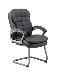 Boss Office Products Executive Pillow Top Guest Chair in Black