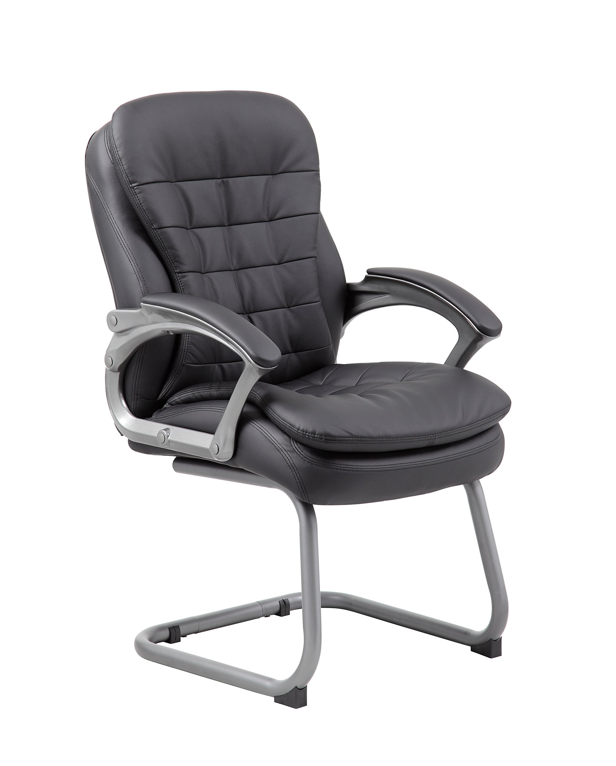 Boss Office Products B9339 Executive Pillow Top Guest Chair in Black