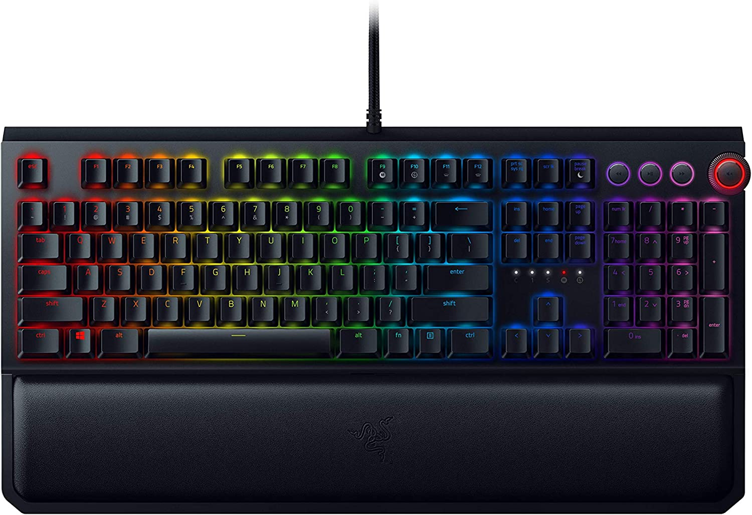 Razer BlackWidow Elite Mechanical Gaming Keyboard Yellow Mechanical Switches  Linear amp Silent  Chroma RGB Lighting  Magnetic Wrist Rest  Dedicated M at Kapruka Online for specialGifts