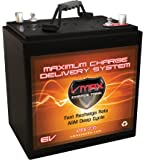 VMAX XTR6-235 6 Volt 235Ah Group GC2 AGM Deep Cycle Battery (Replaces/Upgrades Trojan T105 and T105-RE) Capacity: 235Ah; Energy: 1.62kWH; Reserve Capacity: 500min