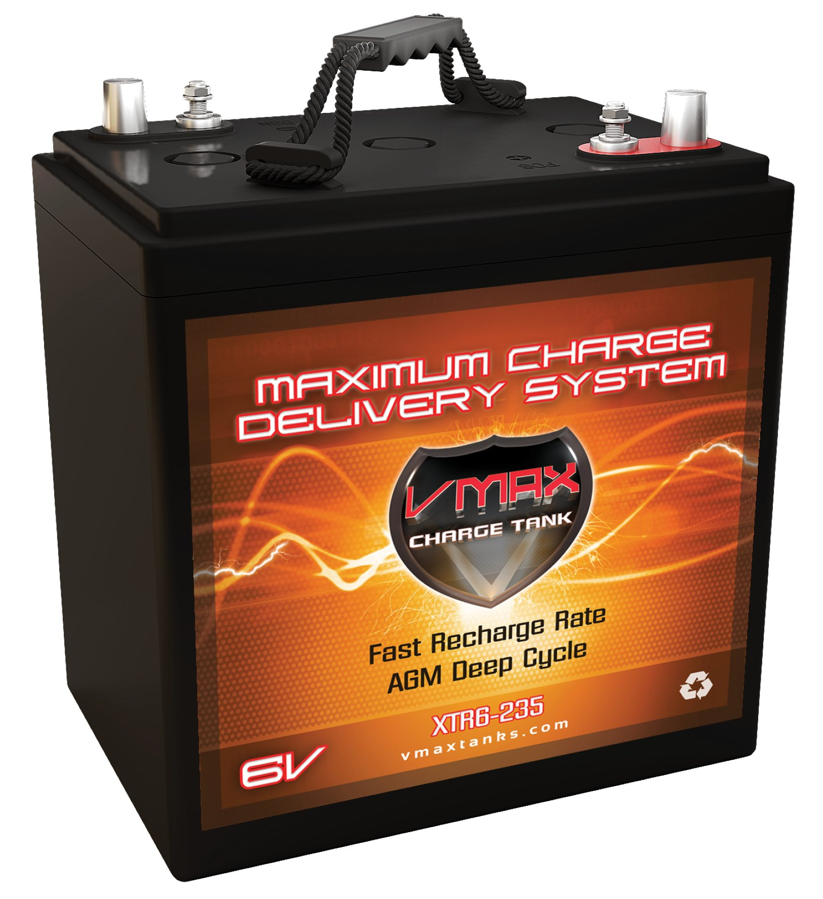 VMAX XTR6-235 6 Volt 235Ah Group GC2 AGM Deep Cycle Sealed Maintenance-Free Battery Replaces/Upgrades Interstate GC2-RD GC2-HD GC2-XHD by VMAX USA