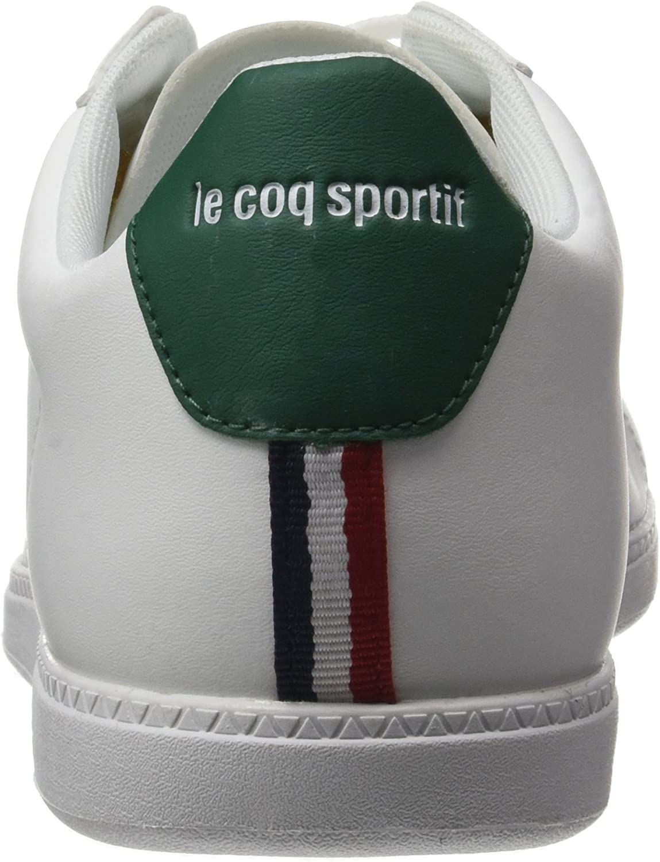 Le Coq Sportif Courtset S Lea, Baskets Homme Blanc Optical White Evergr