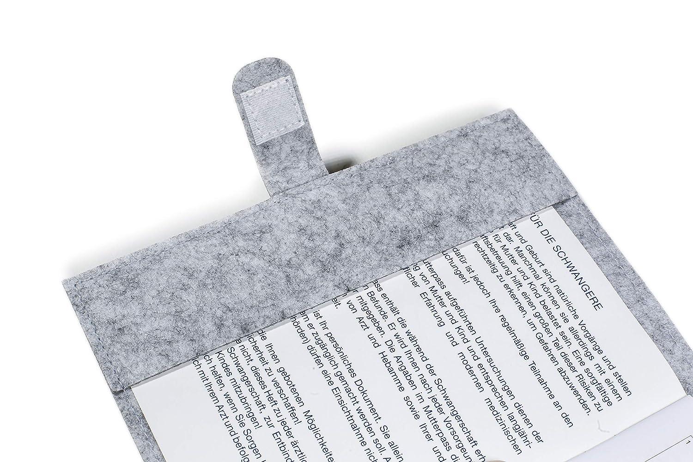 Vitawerks Stabile Unempfindliche Mutterpassh/ülleFu/ßabdruck aus Filz I Perfekt und Passgenau f/ür den deutschen Mutterpass I 13,5 x19 cm