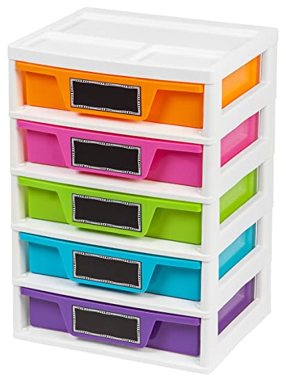 Attrayant IRIS 5 Drawer Storage U0026 Organizer Chest, Assorted Colors