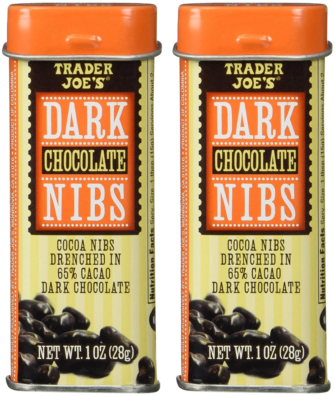 Amazon.com : Trader Joe's Dark Chocolate Nibs Cocoa Nibs Drenched ...