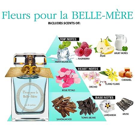 Fleurs pour la BELLE-MÈRE Agua de perfume para mujer - Natural Spray 50 ml - Mejor idea de regalo de boda - Fragancia de celebración: Amazon.es: Belleza