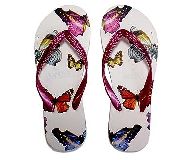 6d7d14430275d Gandys Pink Butterfly Flip Flops  Amazon.co.uk  Shoes   Bags