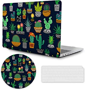 MacBook Air 13 inch Case 2020 2019 2018 Release A2337 M1 A2179 A1932, Plastic Hard Shell Case with Keyboard Cover, MacBook Air Accessories Laptop Cover MacBook Air 2020 Case,Cactus