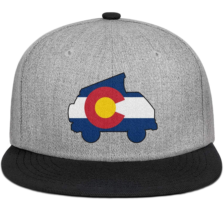 Men Women Baseball Hat Westy Colorado Flag Snapback Classic Cap