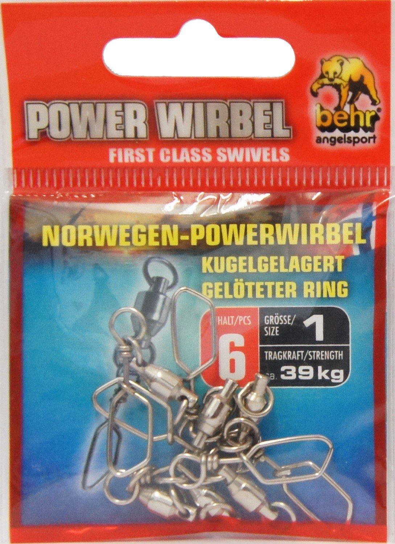 Angelwirbel Behr Norwegen Power Wirbel Kugellagerwirbel Meereswirbel Kugellager extra stark