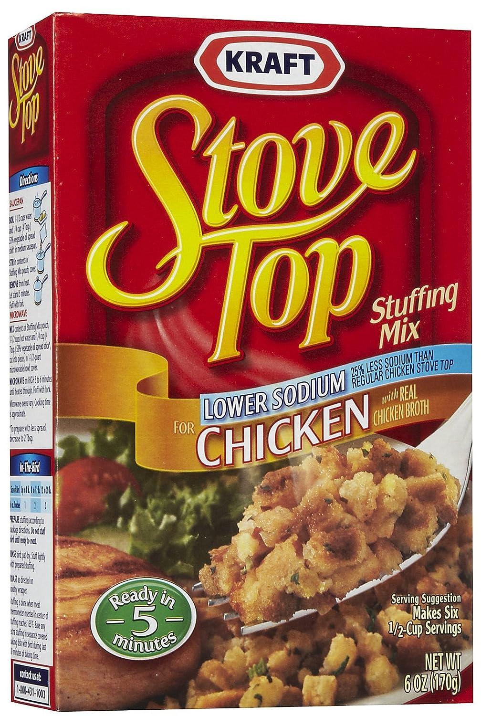 Amazon.com : Kraft, Stove Top, Stuffing Mix, Chicken, Low Sodium ...