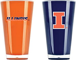 NCAA Illinois Fighting Illini 20oz Insulated Acrylic Tumbler Set of 2