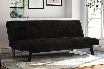 Amazon.com: DHP Premium Austin Convertible Sofa Futon, Rich Black