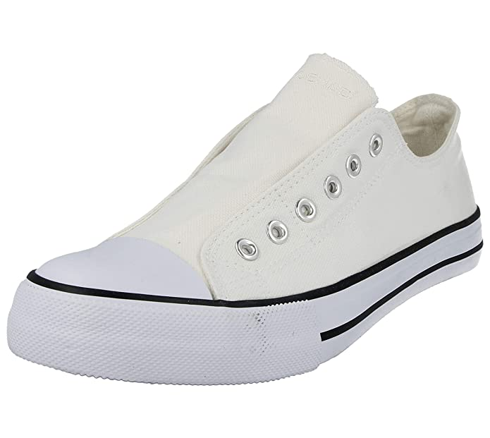 785a84843e20 No Sense Ladies Mens Boys 625801 Canvas Slip On Elastic Eyelet Pumps All  Star Sneakers Trainers Shoes Size 3-9  Amazon.co.uk  Shoes   Bags