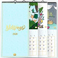 Alicia Souza - 2020 Blessings Wall Calendar | Gold Foil Accents | Adoring Illustrations of Gods | Monthly Grid View | Lots of Stickers | Size - Height - 45 cm; Width - 21 cm