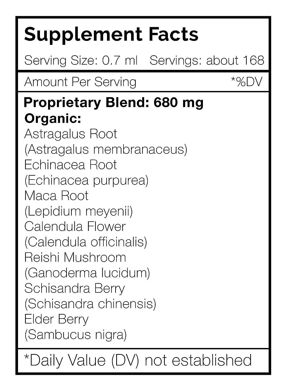 Tribal Shield Alcohol-Free, Glycerite Astragalus, Echinacea, Maca, Calendula, Reishi, Schisandra, Elderberry. Tincture, Herbal Extract Immune Endurance Wellbeing 2×4 FL OZ