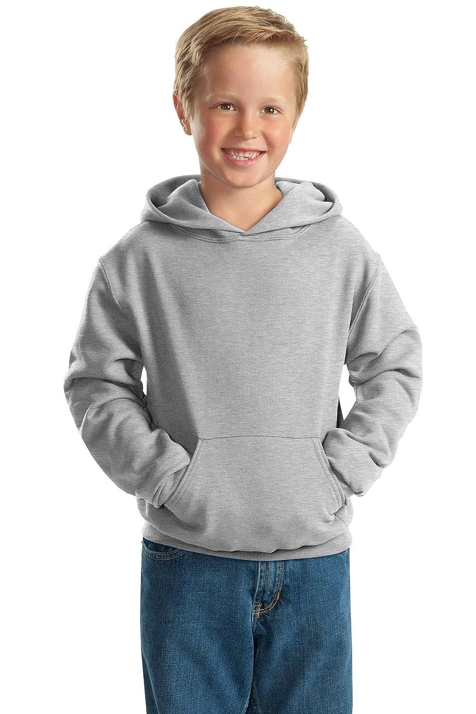 Ash X-Large Jerzees Big Boys Two-Ply Hood Fleece Pocket Sweatshirt