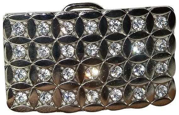 69e8d8d74527 Fronhofer Boucle de ceinture argentée pour femme, grande boucle à strass 4  cm, 18109