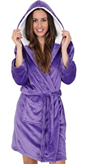 Bathrobe XS - XXXL Short Women Men Unisex Hooded Dressing Gown ... 204d58347