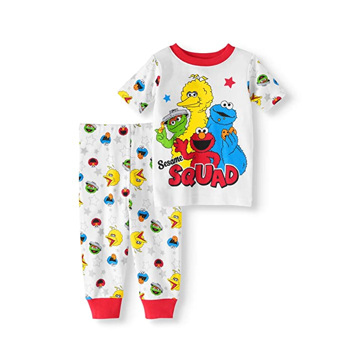 cd8e1867e8f2 Amazon.com  Sesame Street Squad Baby Boys Cotton Pajama Set (18 ...