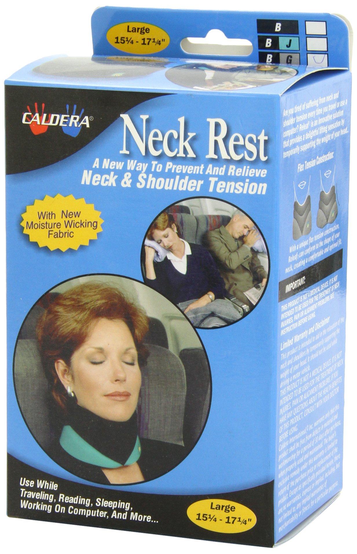 Caldera Releaf Neck Rest, Large, Granite and Black
