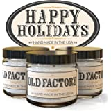 Scented Candles - Happy Holidays - Set of 3: Christmas Tree, Candy Cane, and Gingerbread - 3 x 4-Ounce Soy Candles - Each Votive Candle is Handmade in the USA with only the Best Fragrance Oils