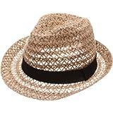 MIRMARU Summer Foldable Trilby Short Brim Lightweight Crushable Fedora Hat with Band