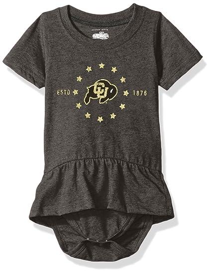 cbff387ca288 Amazon.com   Cotton Willy NCAA Girls Short Sleeve Ruffle Onesie ...