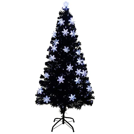 WeRChristmas Fibre Optic Christmas Tree with Snowflake Decorations ...