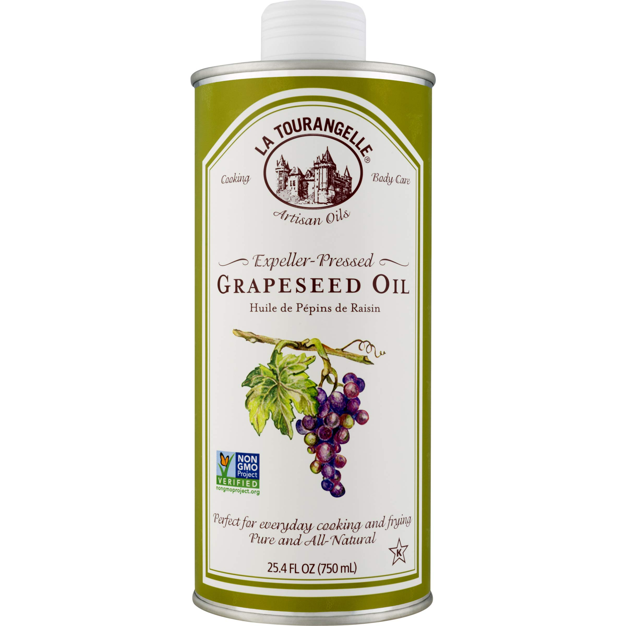 La Tourangelle Grapeseed Oil 25.4 Fl Oz, All-Natural, Artisanal, Great for Cooking, Sauteing, Marinating, and Dressing by La Tourangelle