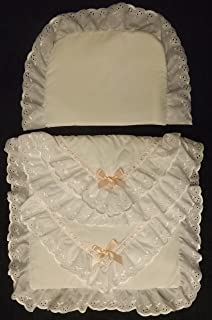 COACH BUILT PRAM BEDDING SET for Silver Cross Dolls Oberon Chatsworth Pink Blossom Baby Rex