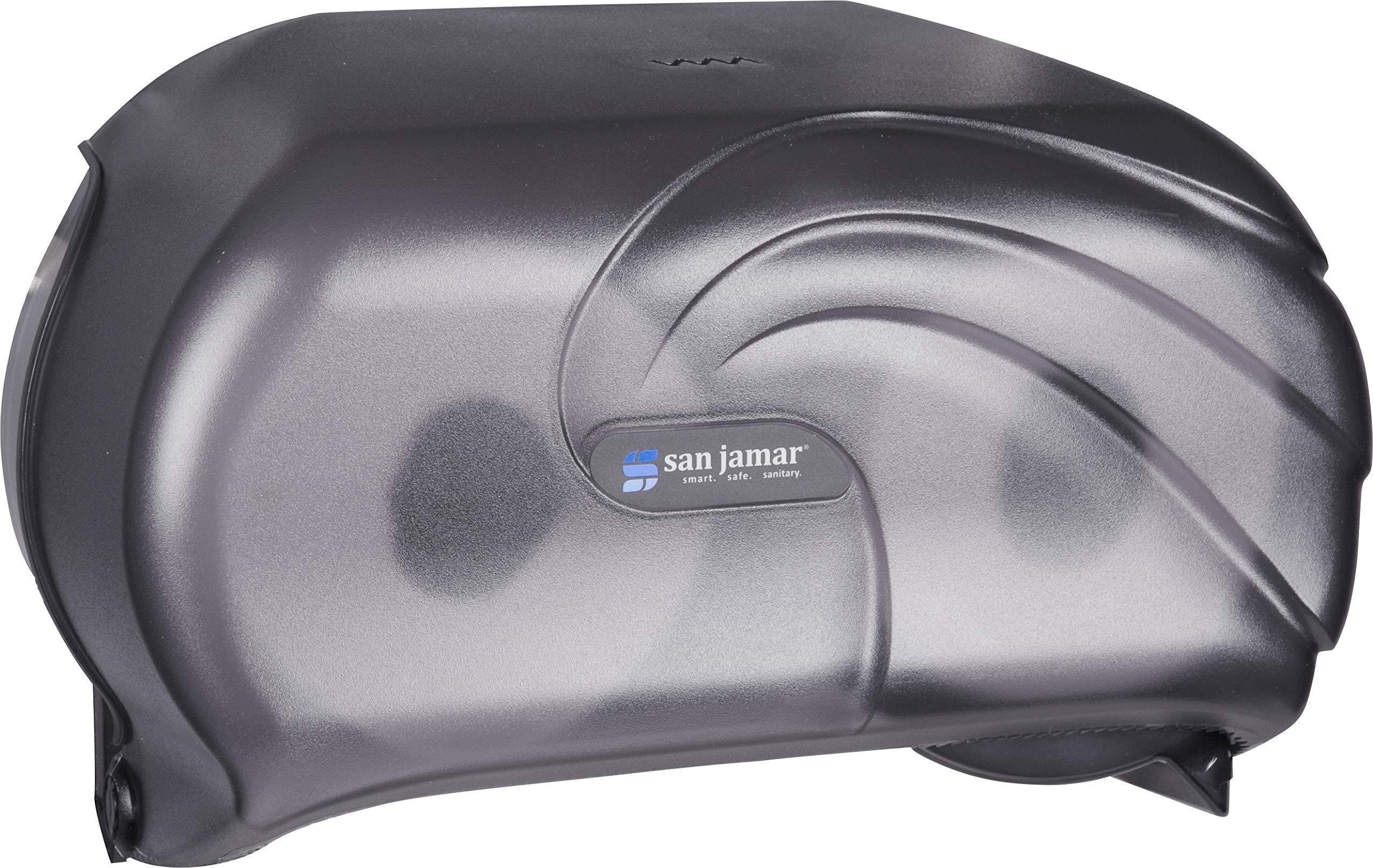 San Jamar R3690TBK Versatwin Double Roll Toilet Tissue Dispenser with Bio Pruf, Oceans, Black Pearl by San Jamar (Image #4)