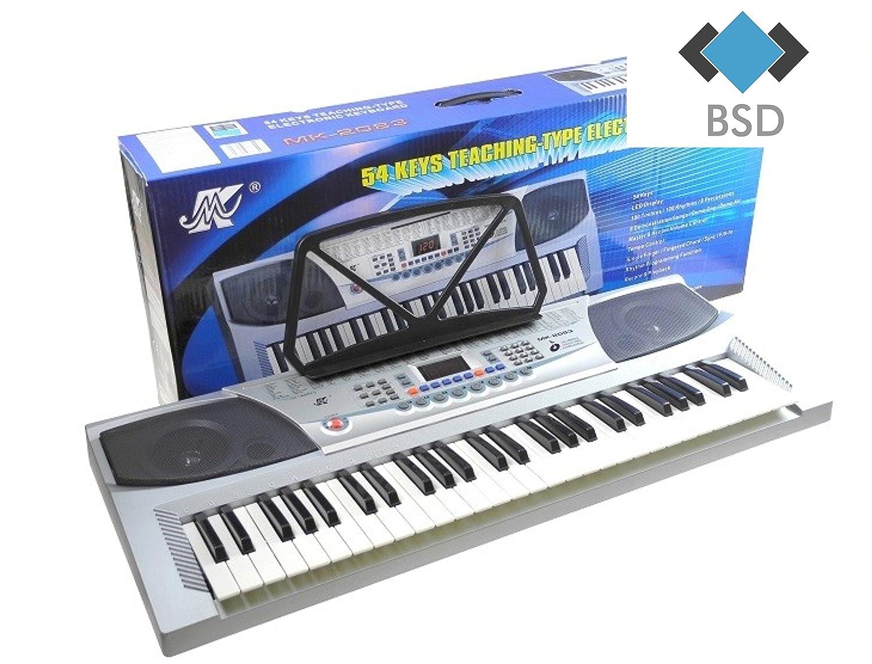 MK-2083 teclado con la grabación y el micrófono - 100 tonos, 100 ritmos y 8 de demostración, dos altavoces estéreo, control de volumen, LCD - Piano