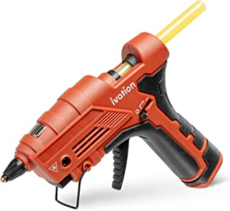 Ivation Cordless Butane Powered Glue Gun, Fast Heat-Up Gas Powered Hot GlueGun with Self-Regulating Temperature for DIY Projects, Arts & Crafts, Woodworking, Home Repairs Gift Decorations & More