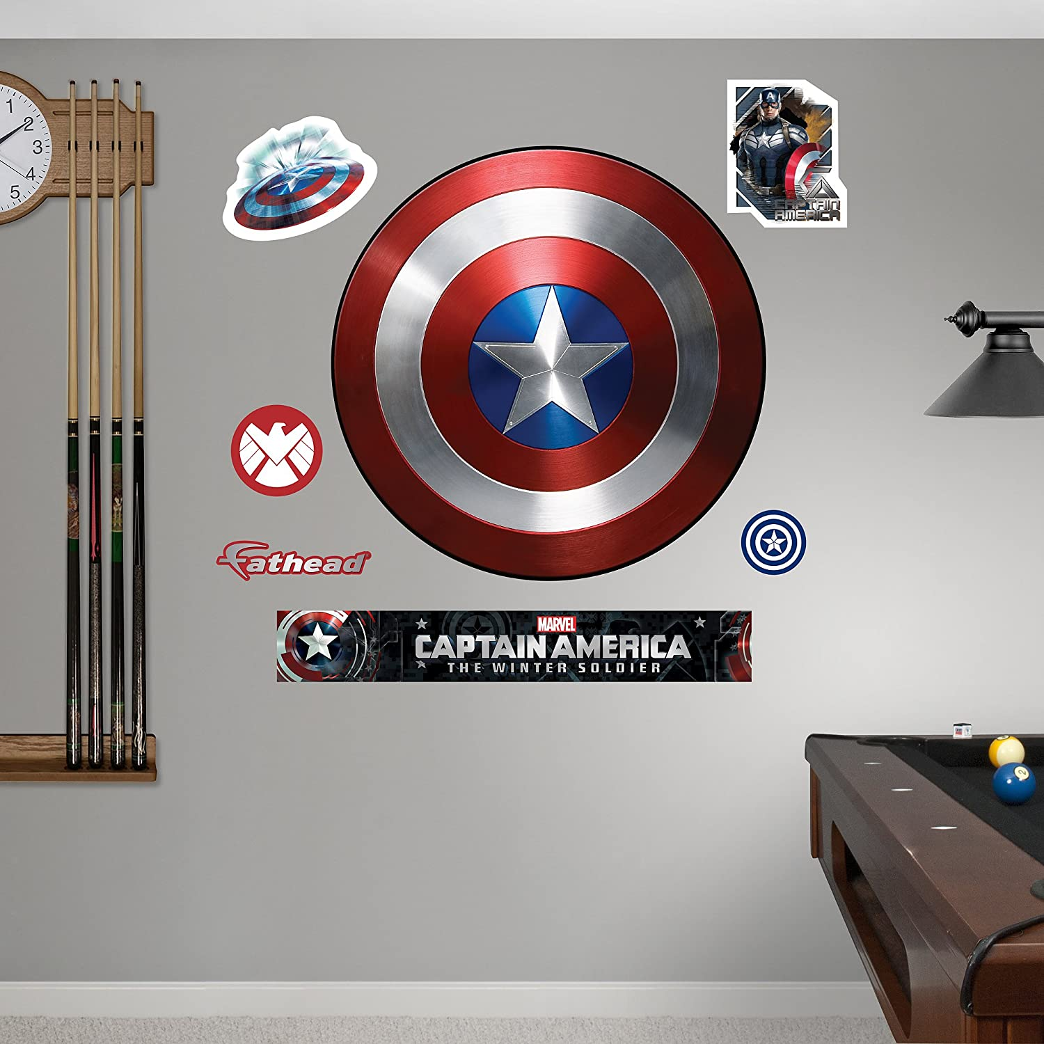 FATHEAD Captain America: The Winter Soldier-Vibranium Shield Real Big Wall Decal