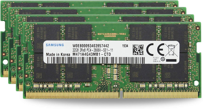 "Adamanta 128GB (4x32GB) Genuine Factory Original Memory Upgrade for 2020 & 2019 Apple iMac 27"" w/Retina 5K Display DDR4 2666Mhz PC4-21300 SODIMM 2Rx8 CL19 1.2v DRAM RAM"