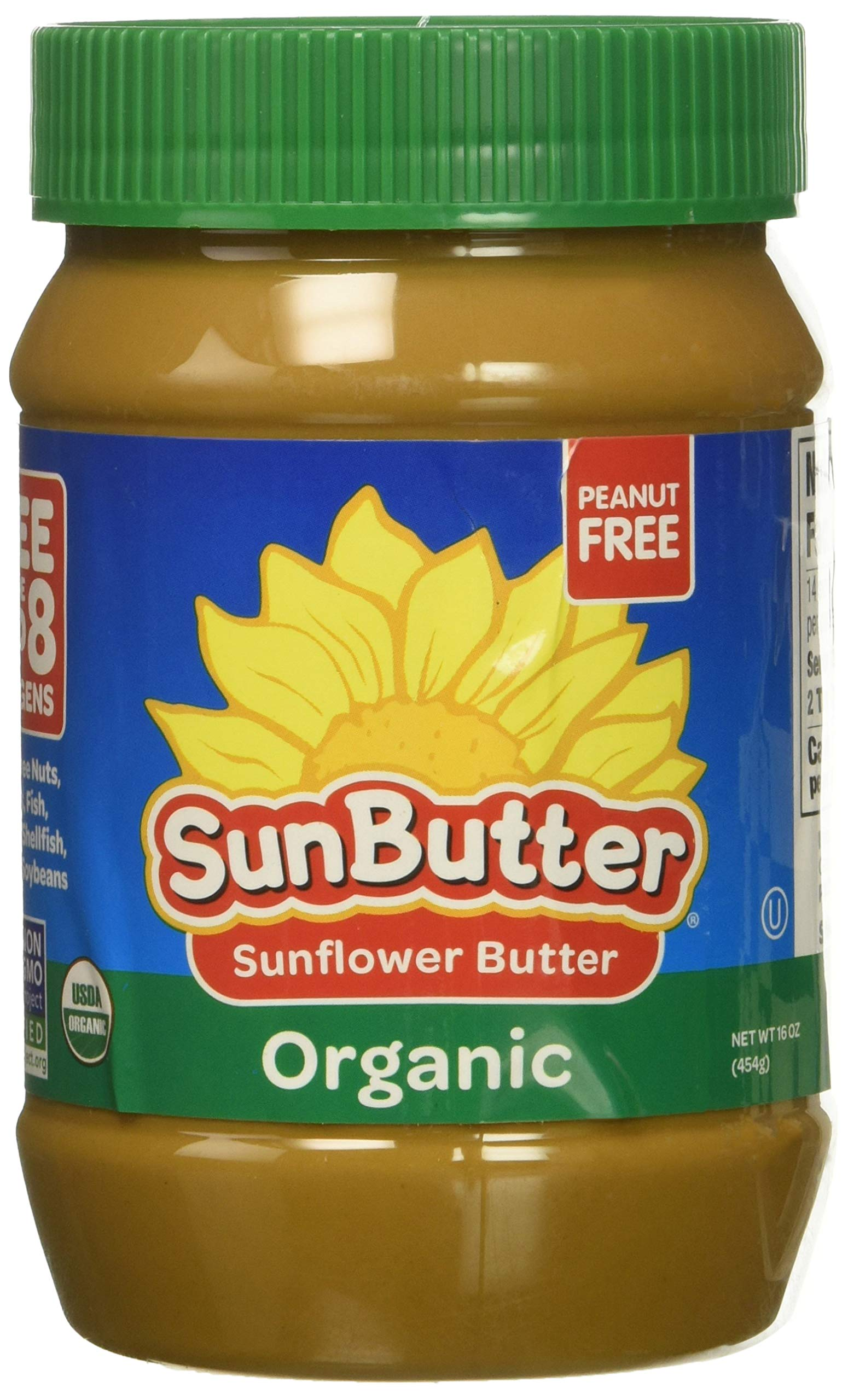 SunButter Organic Sunflower Seed Spread, 16-Ounce Plastic Jar by SunButter