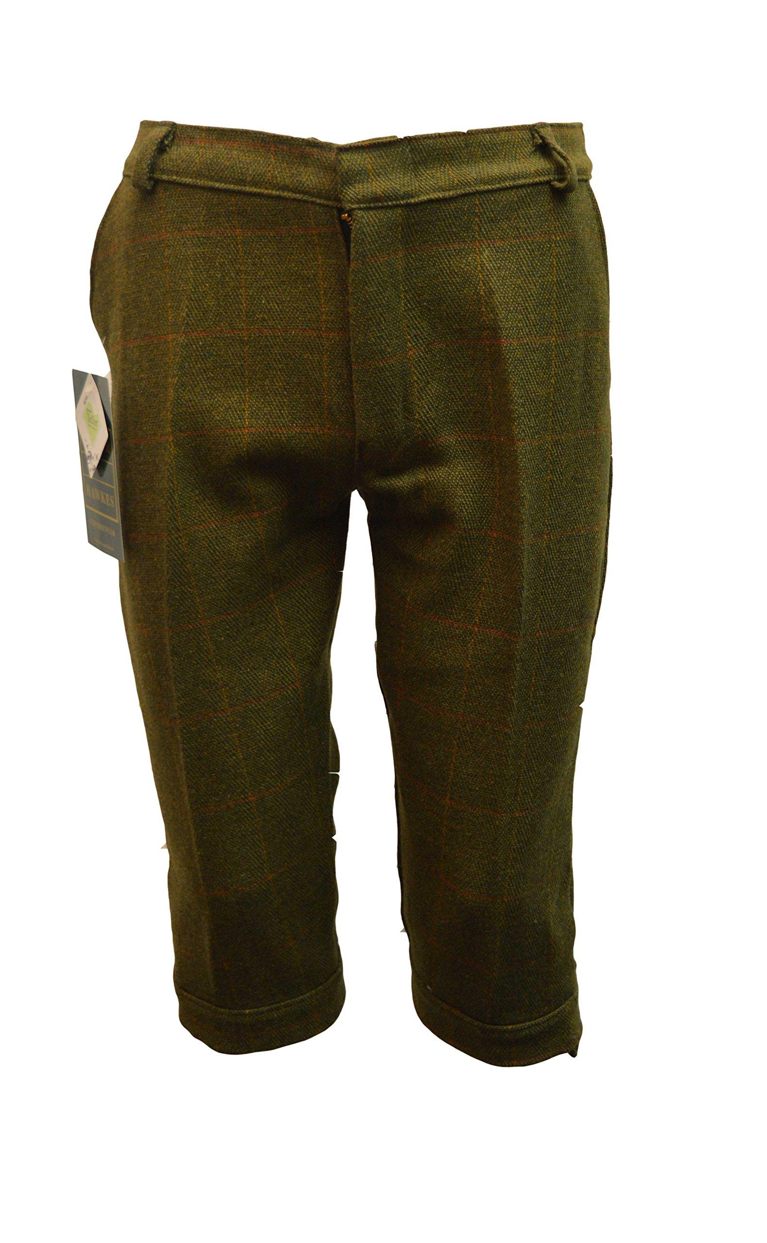 Walker and Hawkes Big Boys' Derby Tweed Breeks Shooting Plus Fours Trousers 30 Dark Sage