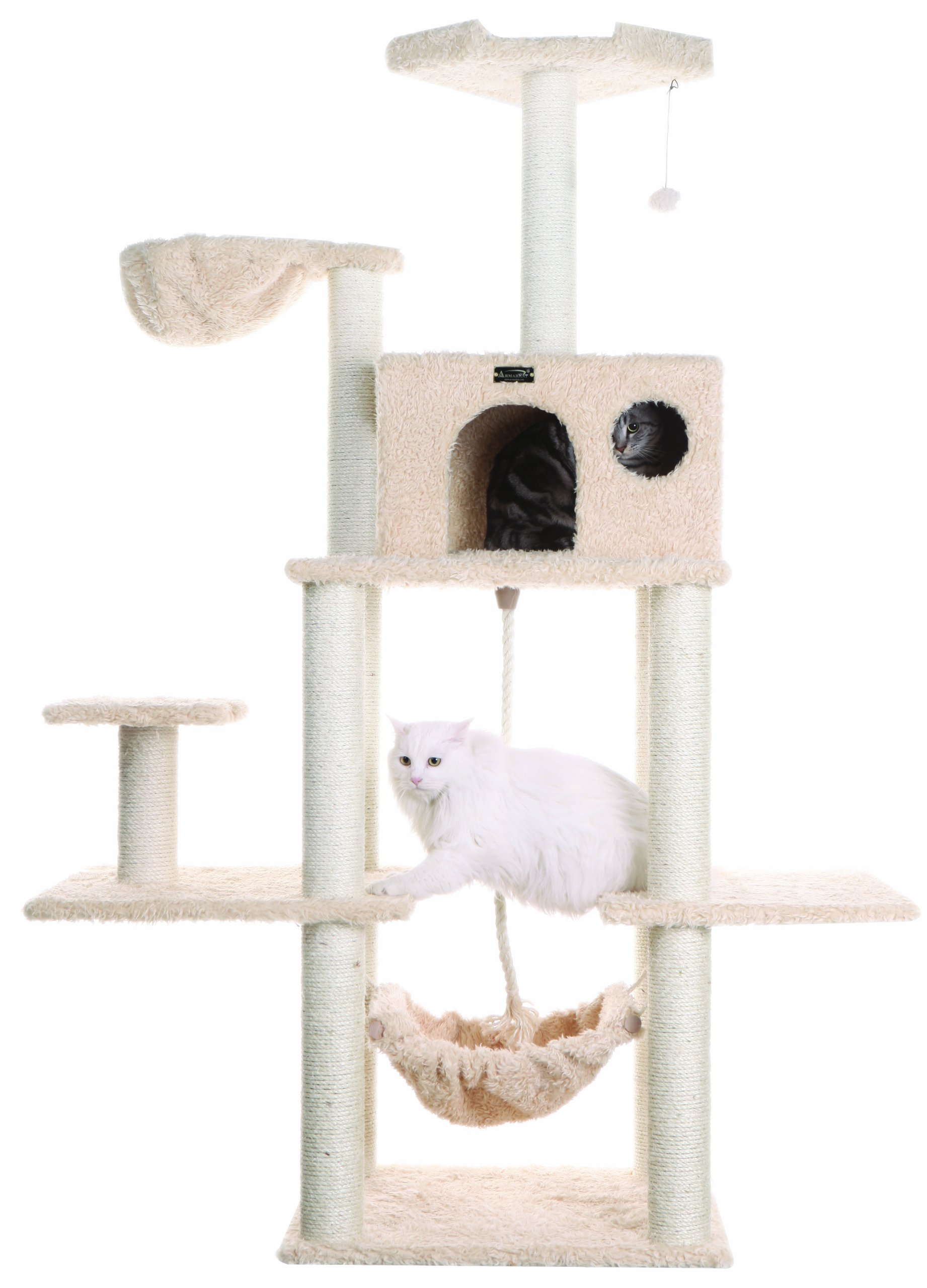 Armarkat Classic Cat Tree, Model A6901, 69 inch, Beige