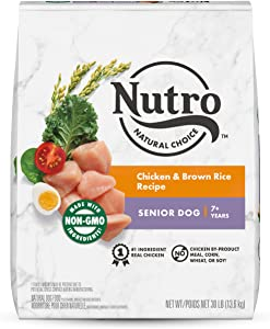NUTRO Natural Choice Senior Dry Dog Food, Lamb & Chicken